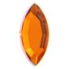 Acrylic 15x7mm Navette Orange